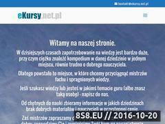 Miniaturka ekursy.net.pl (Tworzenie stron internetowych z WordPress i inne)