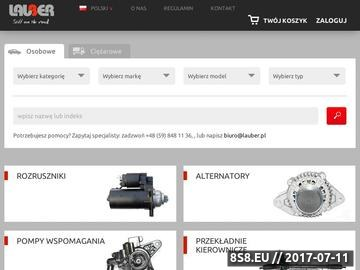 Zrzut strony Internetowy sklep motoryzacyjny - ELauber