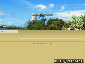 Zrzut strony www.elektro4you.pl - Komputery, RTV, AGD, Foto