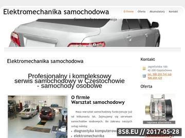 Zrzut strony Warsztat samochodowy Częstochowa - elektromechanika