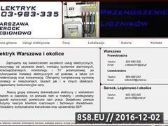 Miniaturka domeny www.elektrycy24.waw.pl