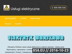 Miniaturka domeny www.elektryk-waw.pl