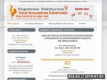 Zrzut strony Instalacje elektryczne