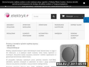 Zrzut strony Sklep Elektryczny - elektryk.pl