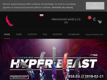 Zrzut strony Elemental Knives Poland