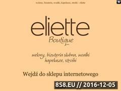 Miniaturka domeny eliette.za.pl