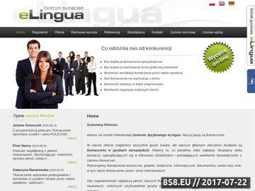 Zrzut strony Tłumaczenia w języku angielskim i niemieckim