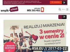 Miniaturka empikschool.com (Szkoła języków obcych)