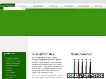 Zrzut strony Agencja Reklamowa Enepi media - artykuły, odzież i gadżety reklamowe