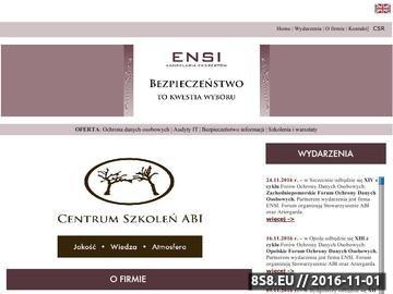 Zrzut strony ENSI - Audyt IT