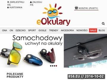 Zrzut strony EOkulary - sklep internetowy - okulary przeciwsłoneczne,gogle narciarskie.