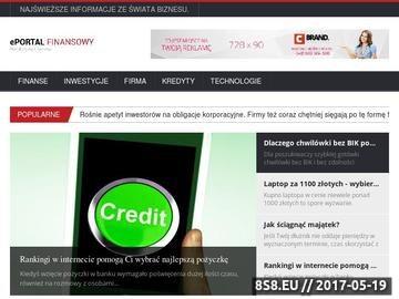 Zrzut strony Portal finansowy