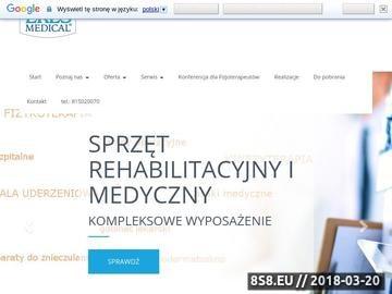 Zrzut strony Eres Medical - sprzęt medyczny, sprzęt rehabilitacyjny, meble medyczne