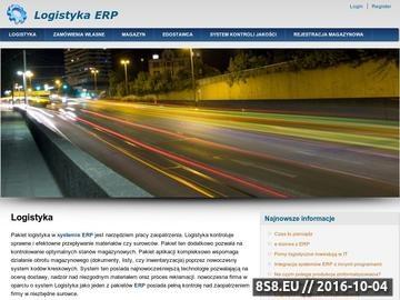 Zrzut strony Logistyka w systemie ERP