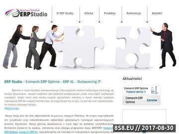Zrzut strony ERP Studio - Wdrożenia Comarch Optima, CDN XL, Outsourcing IT
