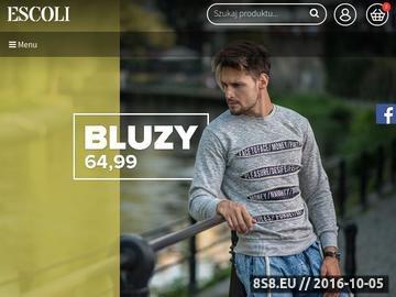 Zrzut strony Moda męska sklep online Escoli
