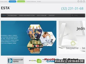 Zrzut strony Esta - Oprogramowanie dla Twojej firmy, CDN, Kasy fiskalne, Outsourcing IT