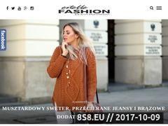 Miniaturka www.estellefashion.pl (Blog o tematyce modowej i urodowej)
