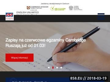 Zrzut strony English Unlimited - Angielski Gdańsk