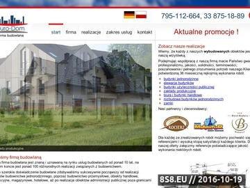 Zrzut strony Euro-Dom - Profesjonalne usługi budowlane i remontowe