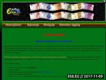 Zrzut strony Eurobarre - zarabianie w internecie