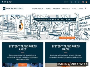 Zrzut strony Systemy i urządzenia do transportu wewnętrznego