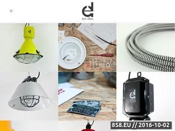 Zrzut strony Sklep oferujący lampy industrialne, przemysłowe i loft design
