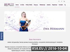 Miniaturka ewahermann.pl (Skrzypce - ślub - Trójmiasto)