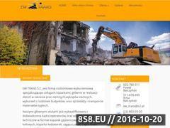 Miniaturka ewtrans.pl (Usługi rozbiórkowe, roboty ziemne oraz transport)