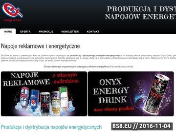 Zrzut strony Napoje energetyczne