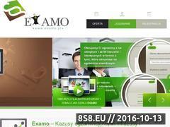 Miniaturka www.examo.pl (Kursy i kazusy)