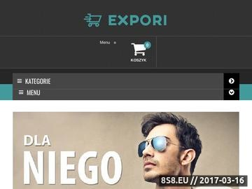 Zrzut strony Expori - sklep z suplementami