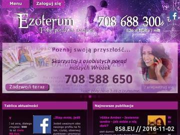 Zrzut strony Jasnowidz online i tarot