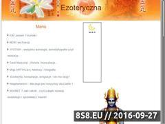 Miniaturka ezoteryczna.pl (Reiki inicjacje, horoskopy Jyotisha i Tarot Mars)