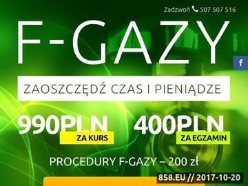 Zrzut strony Szkolenia i certyfikaty F-gazy