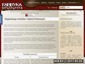 Zrzut strony Integracja w firmie, wieczory tematyczne - Fabryka Artystyczna
