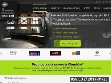 Zrzut strony Masowa wysyłka SMS Premium Rate - FabrykaSMS.pl
