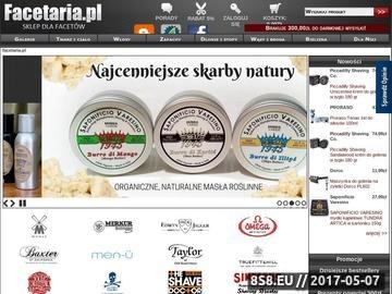 Zrzut strony Facetaria.pl - Sklep dla facetów