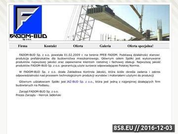Zrzut strony Fadom-bud prefabrykaty, bloczki, budownictwo
