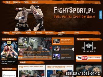 Zrzut strony FightSport.pl - Twój Portal Sportów Walki - MMA, K-1, UFC, Strikeforce, KSW,