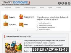 Miniaturka Strona programu do zarządzania budżetem w domu (finansedomowe2.pl)
