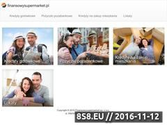 Miniaturka domeny www.finansowysupermarket.pl