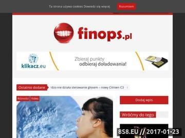 Zrzut strony Portal rozrywkowy Finops