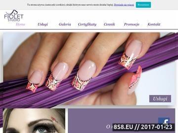 Zrzut strony Fiolet Studio - stylizacja paznokci