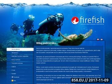 Zrzut strony Szkoła Nurkowania Firefish.pl Gdańsk