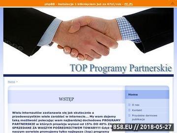 Zrzut strony Top Programy Partnerskie -