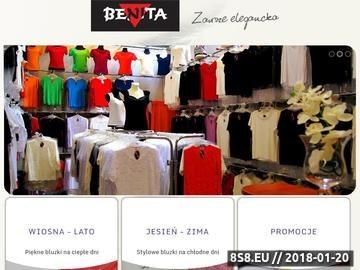 Zrzut strony Producent odzieży damskiej - Benita - bluski damskie