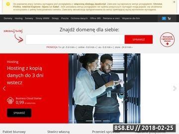 Zrzut strony Firmy Niepołomice, Katalog firm niepołomickich, Firmy niepołomickie
