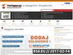 Miniaturka domeny www.firmy24h.info