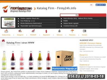 Zrzut strony Internetowy katalog Firm Krajowych i Zagranicznych - Firmy24h.info